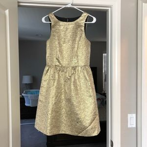 Gold Textured Kensie Cocktail Dress Small